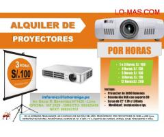 """ALQUILER DE PROYECTOR MULTIMEDIA + ECRAN 72"""""""
