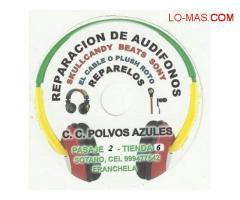 REPARACION DE AUDIFONOS POLVOS AZULES