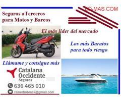 SEGURO A TERCEROS PARA MOTOS Y BARCOS