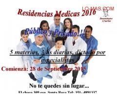 CURSO RESIDENCIAS MEDICAS 2016