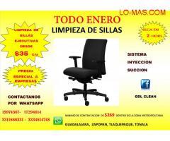 LIMPIEZA DE SILLAS EJECUTIVAS.