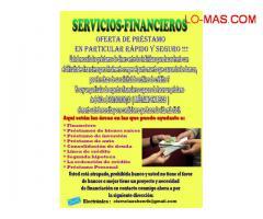 OFERTA DE PRÉSTAMO EN PARTICULAR RÁPIDO Y SEGURO !!! Electrónico : ( alberto.grigorio43@gmail.com )