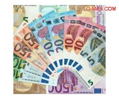 Entre oferta de préstamo especial de seria y honesta