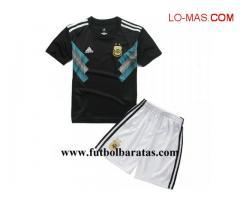 Camiseta Nino Argentina 2018 Segunda Equipacion