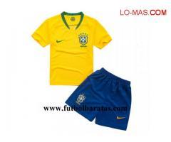 Camiseta Nino Brasil 2018 Primera Equipacion