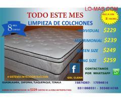 LIMPIEZA DE COLCHONES