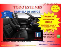 LIMPIEZA DE INTERIORES DE AUTOMOVILES