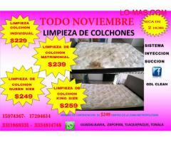 LIMPIEZA DE COLCHONES.